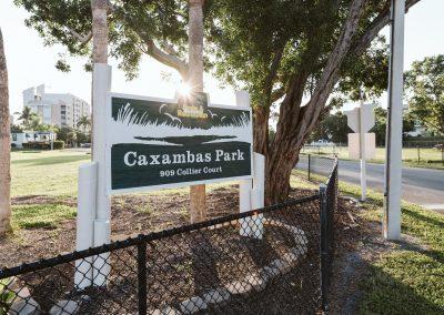 Photo of Caxambas Park sign on Marco Island