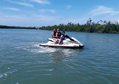 Family of 3 on Jet Ski in Ocean on Marco Island