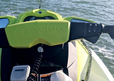 First Person View of Yellow Jet Ski in Marco Island